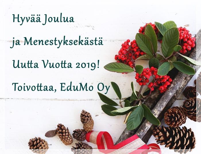 Hyvää Joulua ja Menestyksekästä Uutta Vuotta 2019!