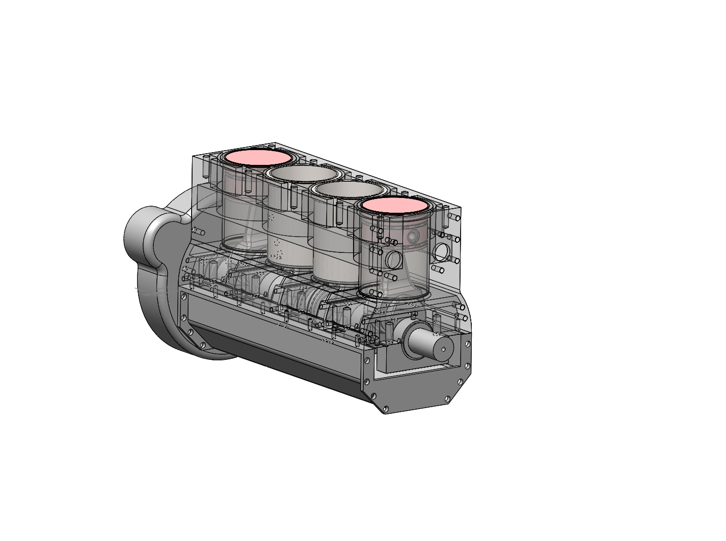 Moottorin 3D-malli